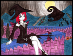 Witch Kairi in Halloween Town by portadorX
