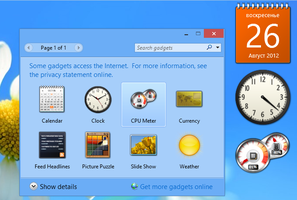 Desktop Gadgets and Sidebar for Windows 8 by hb860