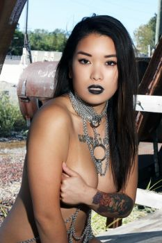 Full Body Chain Model Diane chow Photo Hello Panda by graywolfsmaille
