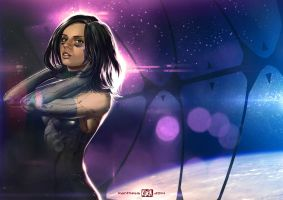 Gunnm Tribute - Space Angel Gally by Kanthesis