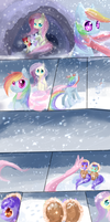 The scarf MLp comic by AquaGalaxy