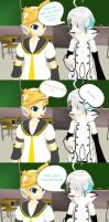 A Short MMD Comic - Len's Favorite Part 1 by peachylolli10