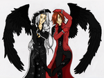 Sephiroth and Genesis Heart by Bloo-D-emon