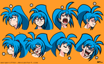 Commission- The Many Faces of Pamee by mergeritter