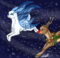 A race with Rudolph by Ziratoni
