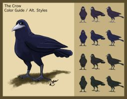 Flight - Character Design - The Crow by neofeliss