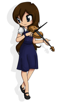 Violin Girl Revamped by tintedslightly