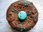 Rough And Turquoise Polymer Clay Box by RoyalKitness