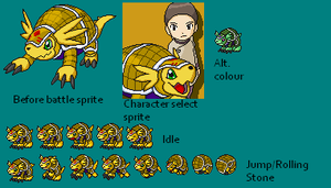 Armadillomon BS Sprites by TailsPrower13