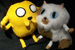 Jake and Cake Plushies by The-Rebexorcist