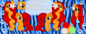 .:REFERENCE SHEET:. Autumn Breeze by JewelyCat