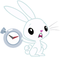 "Angel Bunny: ""You're late"" by AtomicGreymon"