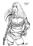 Barbarian Queen (sketch) by Area283