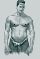 Male torso practice by dannyovt