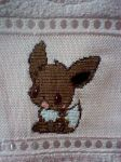 Eevee cross stitch by Anim-Soul