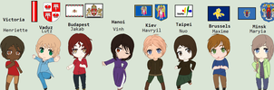 Hetalia Lady Capitals by Karma-Maple