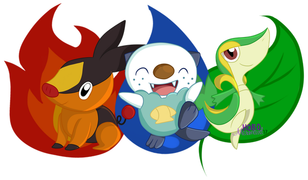 Generation 5 Starters by Key-Rawer
