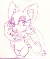 Rouge the Bat Sketch by Togekisser