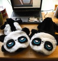 WIP Pouty Panda Slippers by loveandasandwich