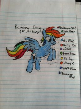 Rainbow Dash (1st attempt) by Gabe9988