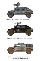 More Fallout Humvees by penguin-commando