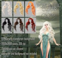 Romantic Curls HAIR STOCK by Trisste-stocks