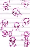 Sketch Head Dump by bleedingstargoddess