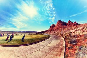 Desert golf by MHH3