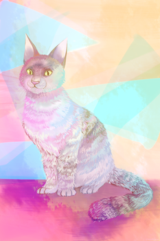Cotton Candy Cat by sterrebloem
