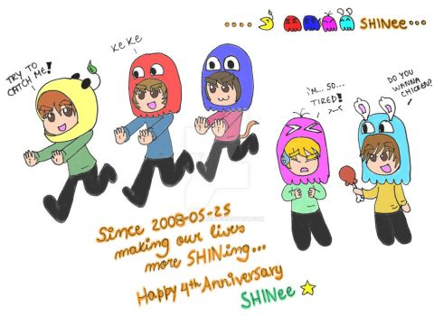 Happy Anniversary SHINee 2012 - PAC SHINee by twinsisters7