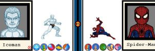 AvsX - Iceman vs. Spider-Man by GEEKINELL