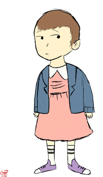Eleven-Stranger Things by EvilDoctorShoe