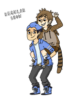 mordecai and rigby by 0655321