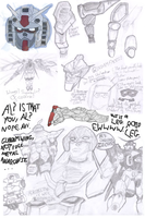 GUNDAMIT ALL: Gundam Sketchdump by JTtheLlama