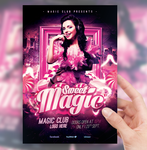 Sweet Magic Party Flyer by sorengfx