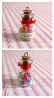 Candy Jar with gummy worms by Luna-Goodies