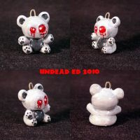 Ghost Bear Charm ooak jewelry by Undead-Art
