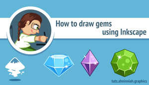 How to draw gems in Inkscape by AhNinniah
