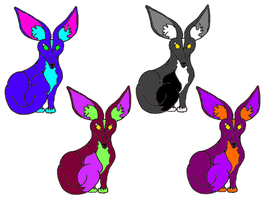 First Foxil Adopts by larkawolf2009