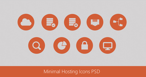 Beautiful Minimal Hosting Icons PSD by cssauthor