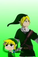 Link and Toon Link by charliethemew012