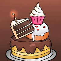A very Belated Birthday-Extra Cake version by thegamingdrawer
