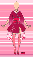 [OPEN] Outfit Kimono Adopt Auction by Red-Cherry-Anime