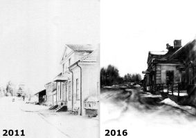 Same drawing five years apart by StyrbjornA