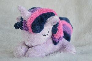 Sleepy Twilight Sparkle filly plush by PinkuArt
