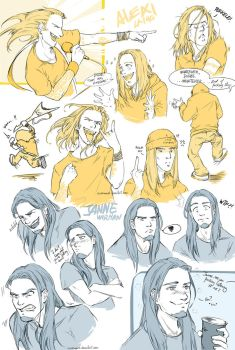 Alexi Laiho/Janne Wirman faces study by NekoWork