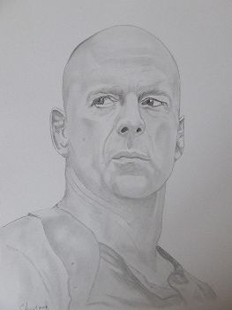 Bruce Willis by Hiberniart