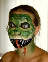 Body painting - snake by magena-art