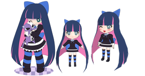 MMD Chibi Stocking WIP by Little-Moon94