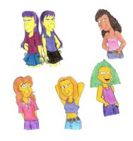 More Simpsons Girls by Violeta960
